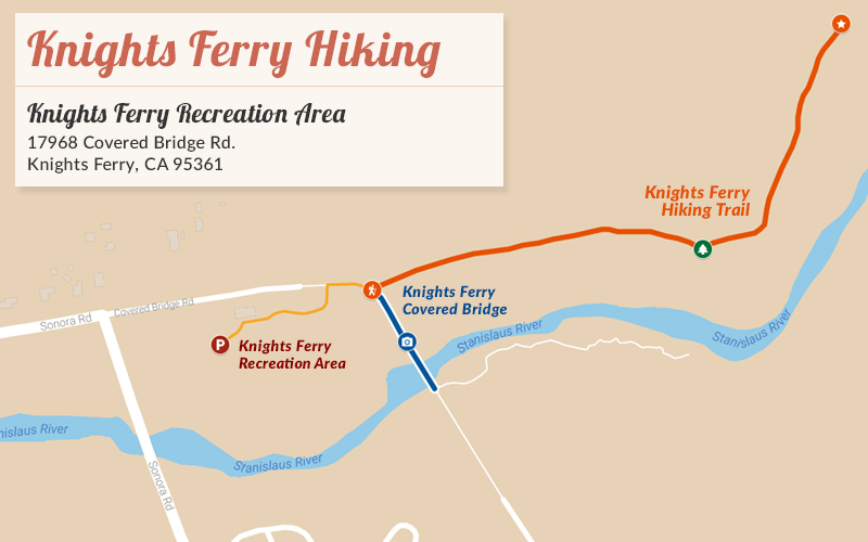 Knights Ferry Hiking Map